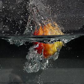 by Karen McKenzie McAdoo - Abstract Water Drops & Splashes (  )