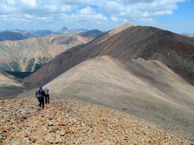 Heading north to Redcloud Peak