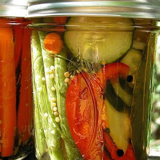 Mixed Sour Refrigerator Pickles.