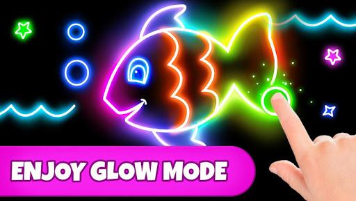 Coloring Games: Coloring Book, Painting, Glow Draw 1.0.7 screenshots 2