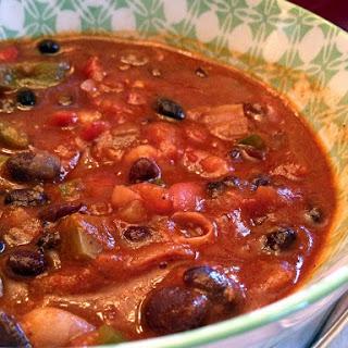 Three Bean Sunday Chili