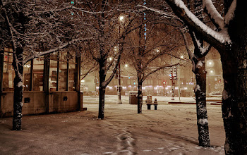 Photo: Very early morning in Chicago during the start of a blizzard. #chicago #urbanphotography #snow