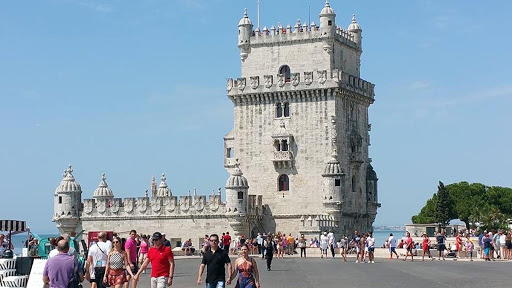 lisbon-landmark-1.jpg - Belem Tower in Park  on River Park.