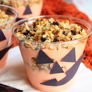 Jack O' Lantern Yogurt Granola Parfaits