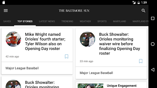 Baltimore Sun- screenshot thumbnail