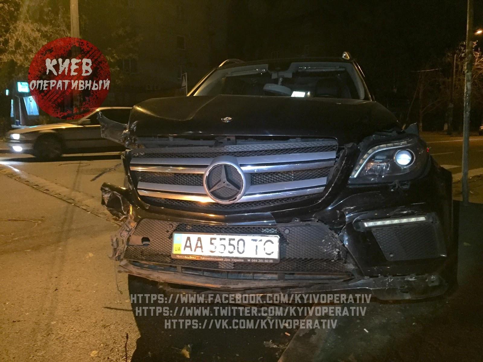 Автомобіль після ДТП за участю сина народного депутата Ігоря Молотка