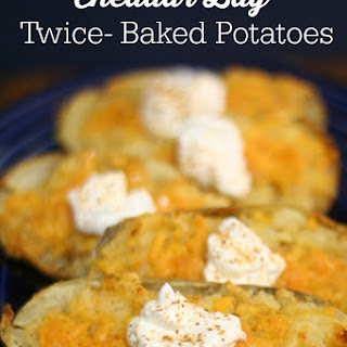 Cheddar Bay Twice Baked Potatoes.