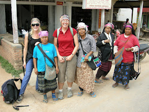 Photo: Frances and Jen bought hats from these ladies - but declined the ganja and opium