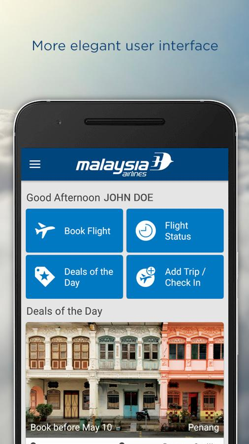 Malaysia Airlines- screenshot