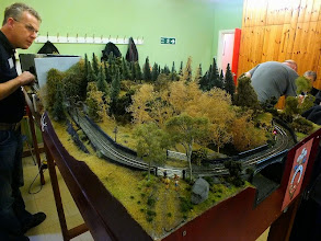 """Photo: 020 Nigel has cleverly extended the scenic section """"around the bend"""" as the line returns to the fiddle yard on his model of Tanybwlch ."""