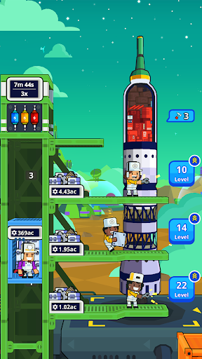 Rocket Star - Idle Space Factory Tycoon Game android2mod screenshots 6