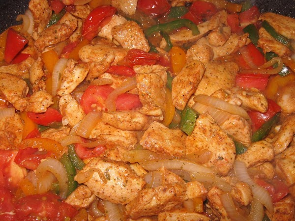 Add diced tomato and 1/2 tsp fajita seasoning and 1/2 tsp Adobo seasoning. Cook...