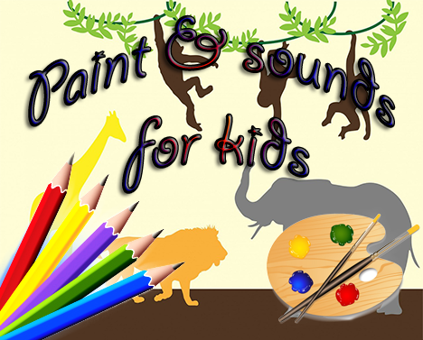 Paint sounds for kids
