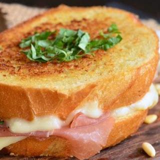 Italian Garlic Bread Grilled Cheese.