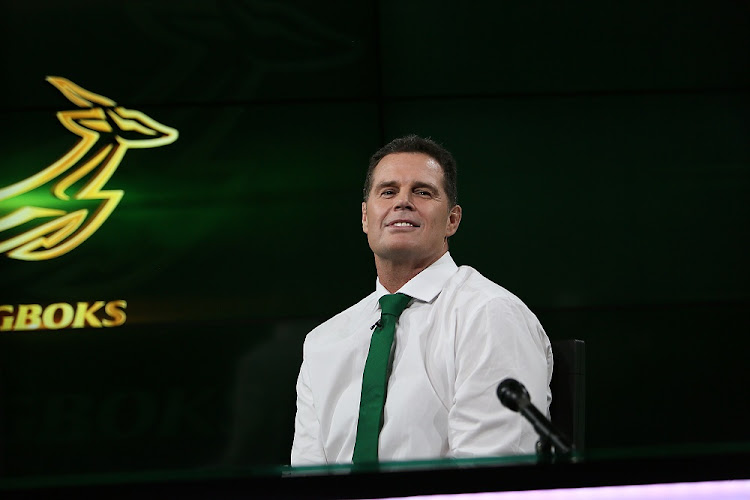 Rassie Erasmus will head up an experienced Springbok management team until the end of the 2023 Rugby World Cup, The former Springbok captain will combine his Springbok coaching duties with his current role as director of rugby at SA Rugby. Picture: ALON SKUY