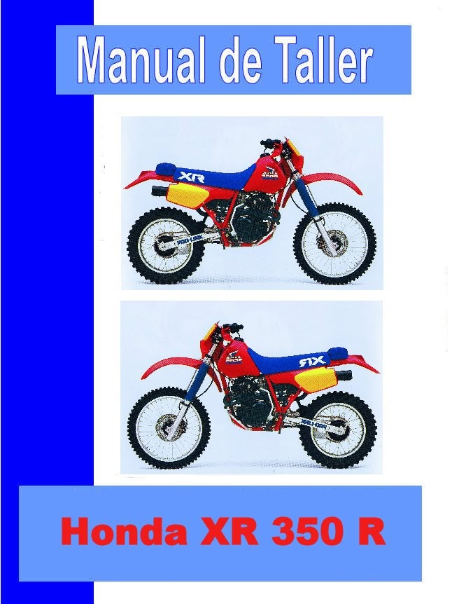 honda XR 350  -manual-taller-mecanica-despiece