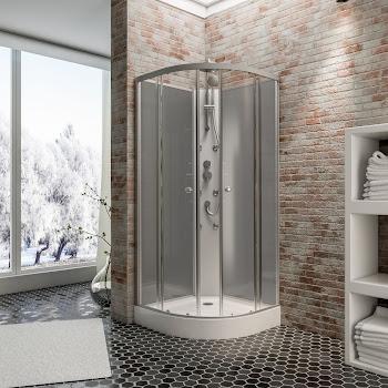 Cabine de douche intégrale hydromassante Rhodos 85 x 85 cm