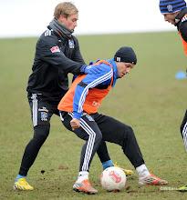 Photo: v.l. Maximilian Beister, Ivo IlicevicFussball, Hamburger SV, Training