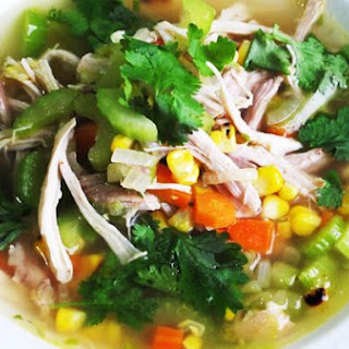 Hearty Chicken & Grilled Corn Soup