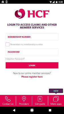 HCF My Membership - screenshot