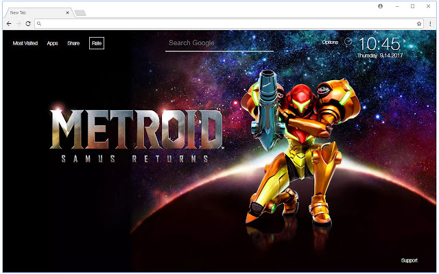 Chrome Web Store Wallpapers Cars Metroid Wallpapers Hd New Tab Themes Free Addons
