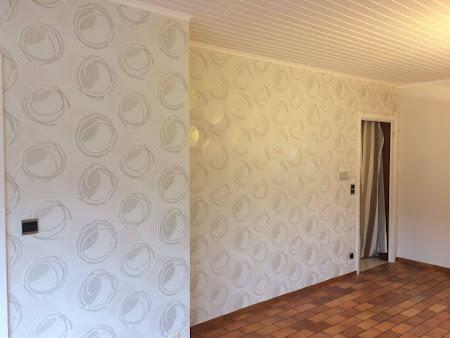 Schilderen plafond te Bertem - Afwerking behang; behangpapier plaatsen