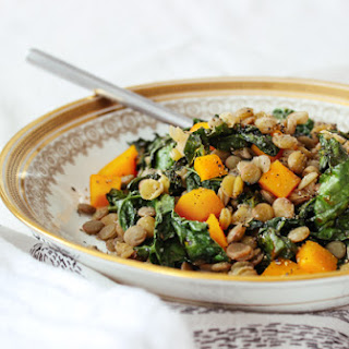 Peppered Lentils with Kale & Butternut Squash