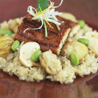 Halibut Fillets with Gourmet Risotto.