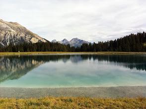 Photo: Der künstlich angelegte See als Speicher für die Schneekanonen im Winter