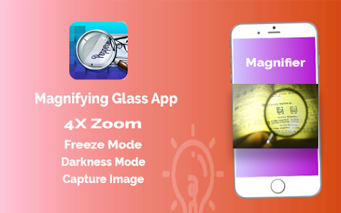 Magnifier App with Deep freez and Flashlight 3