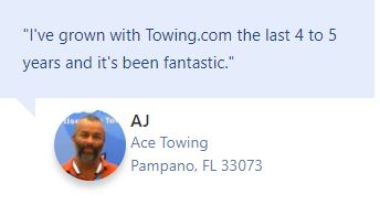 Testimonial Ace Towing