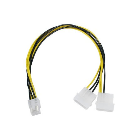 Adapter, 4-pins drev til 6-pins PCI-Express, 30 cm
