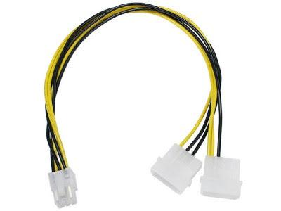 Adapter, 4-pins drev til 6-pins PCI-Express, 30 cm