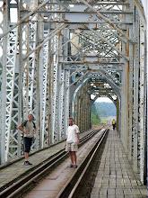 Photo: Projektantem i budowniczym mostu był carski inżynier Fronołow. Zbudowany został na trasie St. Petersburg - Siedlce - Warszawa.