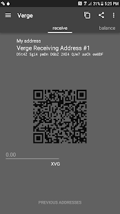 Verge Tor Wallet for Android- screenshot thumbnail