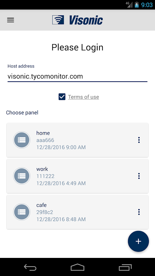 Visonic-Go- screenshot