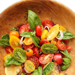 Heirloom Tomato Salad with Roasted Lemon and Garlic