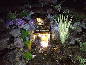 Photo: Check out these stunning Aquascape Pondless Waterfalls in Brighton NY Designed for this Outdoor Garden Room by Acorn Ponds & Waterfalls, Certified Aquascape Contractor since 2004, Pond Designer, #LandscapeDesigner of Rochester NY.  Visit our website www.acornponds.com and give us a call 585.442.6373. Visit  This Backyard Outdoor Room included a Paver Patio Design and Installation, Pillars with Sitting Wall, #LEDLandscapeLighting, Low Maintenance Plantings, Aquascape Pondless Waterfalls and Stream. The Patio was pitched to capture and store the Rainwater in the Pondless Waterfall Basin. The homeowner hardly ever need to even add water! The LED Landscape Lighting adds hours of enjoyment and so economical to run.  Interested in a Waterfalls without the pond? Please click here: www.acornponds.com/pondless-waterfalls.html  To learn more about Susan & Bob's incredible Backyard Transformation please click here: www.facebook.com/notes/acorn-landscaping-landscape-designlightingbackyard-water-gardens/backyard-waterfalls-water-feature-paver-patio-landscaping-landscape-design-brigh/421691824534612  For more info about Acorn Ponds & Waterfalls Services, please click here: www.acornponds.com/services.html  Click here for a free Magazine all about Ponds and Water Features: http://flip.it/gsrNN  Find us on Houzz here: www.houzz.com/pro/acornlandscapedesign/acorn-landscaping-and-ponds-llc  Acorn Ponds & Waterfalls  585.442.6373 www.acornponds.com