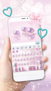 Pink Luxury Pearl Keyboard Theme - náhled