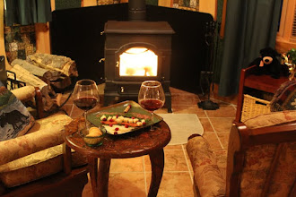 Photo: then wine and a good book by the fire!  Firewood provided.