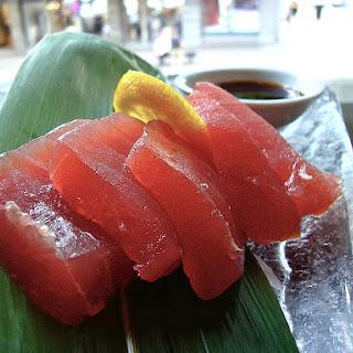 Soy Miso Tuna Sashimi.