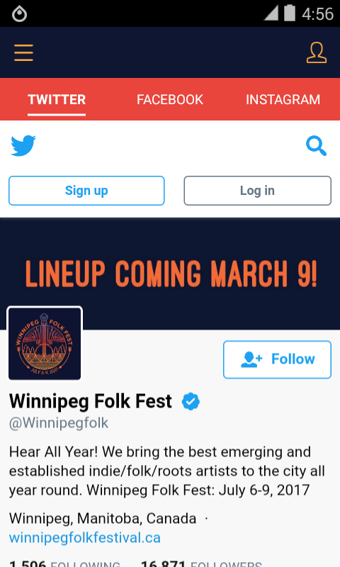Winnipeg Folk Fest 2017- screenshot