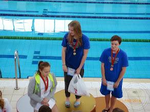 Photo: Międzynarodowe Zawody Pływackie w Brześciu - I miejsce w wieloboju W.Lisowska IIc i III miejsce K.Kruszewska IIc