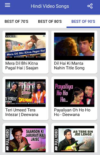 Hindi Video Songs : Best of 70s 80s 90s 1.0.5 screenshots 19