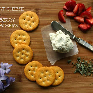 Basil Goat Cheese and Strawberry RITZ® Crackers.