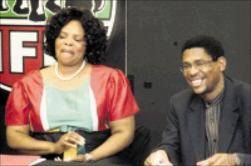 RIVALS: IFP chairperson Zanele Magwaza-Msibi and general secretary Musa Zondi. 11/10/2009. © Unknown.