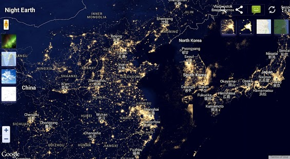 Night Earth Free Android Apps On Google Play - Map of the world from space at night