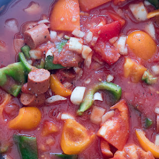 Franks and Peppers Stew.