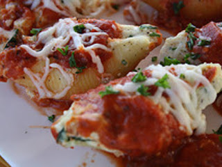 Three Cheese Stuffed Shells (meatless) Recipe