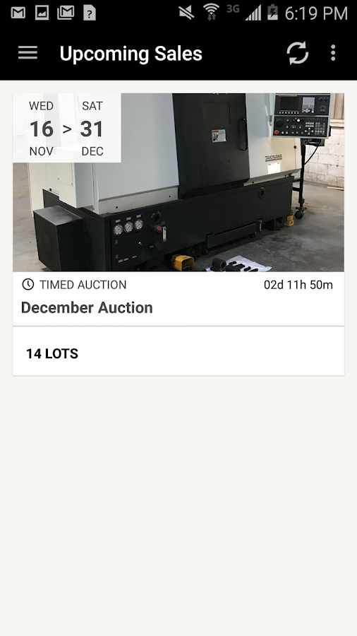 IRSAuction- screenshot